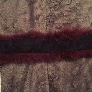 Milano Accessories - Absolute Chic Purple Fox Fur Head Wrap